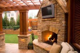 patio pergola with fireplace design ideas creative fireplaces