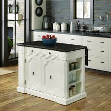 Wood Top Kitchen Island by Home Styles Fiesta Weathered White Kitchen Island With Storage