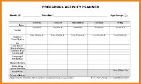 11 lesson plan preschool template resume language
