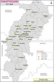 Maharashtra Blank Map by Cities In Chhattisgarh Chhattisgarh Cities