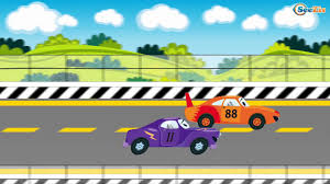 monster trucks races cartoon cars catoons for kids racing cars adventures race with obstacles