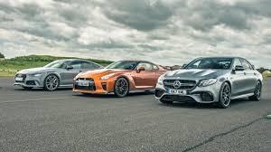nissan gtr vs top gear drag races nissan gt r vs audi rs7 vs merc e63 amg top