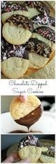 chocolate dipped sugar cookies recipe easy sugar cookie recipes