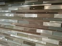 lowes kitchen tile backsplash our kitchen tile backsplash is a mixed glass and metal tile
