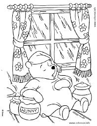 pooh en pijama pooh bear printable coloring pages kids