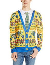 hanukkah apparel faux real men s hanukkah faux sweater sleeve