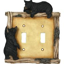 bear light switch covers amazon com rivers edge products 618 bear double switch electrical