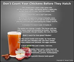 Don Count The Chicken Before They Hatch Jacquii Cooke Poetica Magnifique