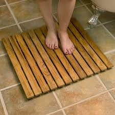 30 square teak shower mat bathroom