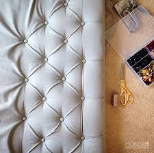 Diy Headboard Upholstered by How To Make A Diamond Tufted Headboard Tufted Headboards Diy