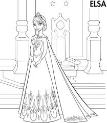 elsa frozen coloring page cartoon coloring pages of