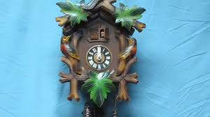 Blue Cuckoo Clock Vintage Germany Cuckoo Clock Schmeckenbecher U0026 M Angem With Music