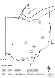 ohio map worksheet coloring page throughout coloring pages glum me