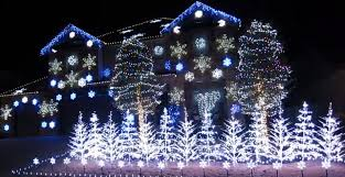 someone made an insane frozen themed christmas lights display