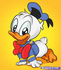 Donald Duck Face Meme - how to draw baby donald duck step by step disney characters