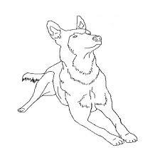 coloriage de chien berger allemand gratuit dessincoloriage