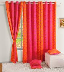 Pink And Orange Curtains Swayam Silk Pink Orange Door Curtain For Rs 909 At Flipkart
