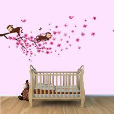 Nursery Monkey Wall Decals Monkey Wall Decals Baby Design Idea And Decorations Monkey