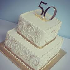 golden wedding cakes cake toppers for 50th wedding anniversary idea in 2017