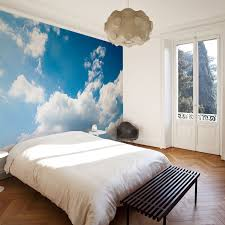 blue sky and clouds wall mural wall murals bed room and walls blue sky and clouds wall mural