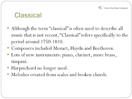 musical periods a summary national 5 musical periods in