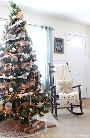 neutral rustic glam christmas tree love of family u0026 home