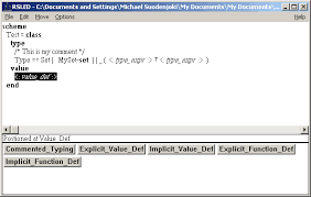 Screenshot from RSL with a sample RSL specification