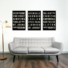 cincinnati print subway sign typography poster home
