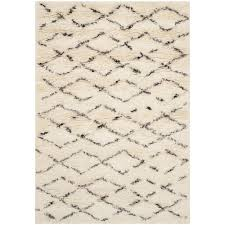 Brown And White Area Rug Safavieh Casablanca Shag White Brown 4 Ft X 6 Ft Area Rug