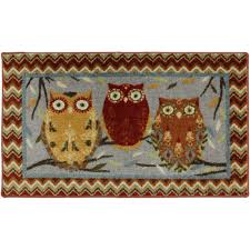 Owl Kitchen Rugs Mohawk Mhk Hoot Owls 20x34 Kitchen Rug Walmart