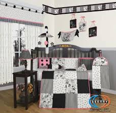 White Crib Set Bedding Boutique Beautiful Black White Flower Dot 13pcs Crib Bedding Set