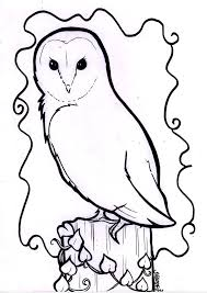 barn owl line drawing logos pinterest owl drawing owls and