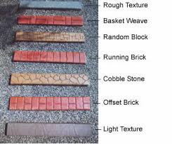border styles u0026 colors the curb creator installer of concrete