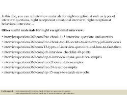 top 10 night receptionist interview questions and answers