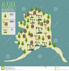 Map Of Alaska And Usa by Alaska Map Natural Resources Oil And Wood Animals Of Alaska B