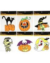 spectacular deal on 9 bats halloween window and mirror clings