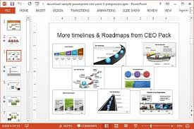 road map template powerpoint complete it roadmap template 1 year