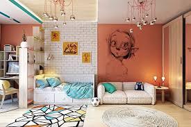 kids wall decor ideas tree blue light plain minimalist stained