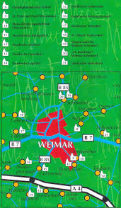 Weimar Germany Map by Guide To Bach Tour Weimar Maps
