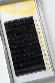 faux mink eyelash extension semi permanent individual 14mm lashes