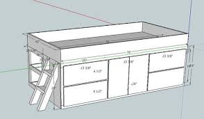 twin storage bed plans daybed with storage woodworking plans
