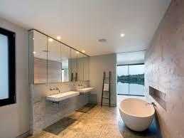 bathroom mid sized contemporary bathroom wall mount sink beige