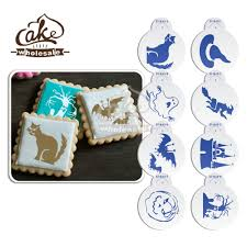 new 8pcs set halloween stencil ghost design cookies stencil