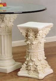 Glass Table Pedestal Classic Roman Column Pedestal Style End Table Pedestals