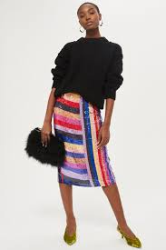 sequin skirt premium rainbow sequin midi skirt topshop