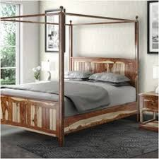 Wood Canopy Bed Livingston Handcrafted Solid Wood Canopy Bed