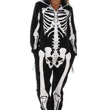 womens skeleton jumpsuit s white and black skeleton jumpsuit from tipsy elves