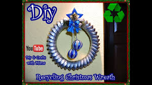 diy how to make a recycling christmas wreath diy u0026 crafts with