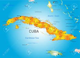 Map Cuba Vector Color Map Of Cuba Country Royalty Free Cliparts Vectors