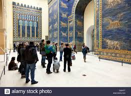 sculpture mural visitors pergamon museum the pergamon temple sculpture mural visitors pergamon museum the pergamon temple antique collection blue wall tiles museum island berlin sta